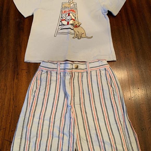 7c4bd2169e6a Janie and Jack Matching Sets | Janie Jack Size 23 Dog Shirt Shorts ...